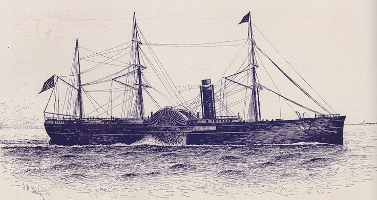 Collins Line's Arctic, lost in September of 1854 following a collision with the steamer Vesta. Many lives were lost.