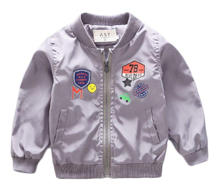 Kids Boys Cartoon Print Long Sleeve Coats Zipper Windproof Baseball Jackets size 2-3 Years/Tag9 (Grey). Material: Cotton Blend, Comfortable and Breathable. Style: Cute Cartoon Letters Pattern,Long Sleeve,Zipper,Make Your Kids Boys More Handsome. Sutiable For: 1-6 Years kids Boys,Hand/Machine Wash Cold Water,Dry Flat,Not Bleach. Great For: Holiday,Sports,Outdoor Activities,Casual,Take Photo. Package Including: 1*Kids Boys Letters Print Long Sleeve Windproof Coats.