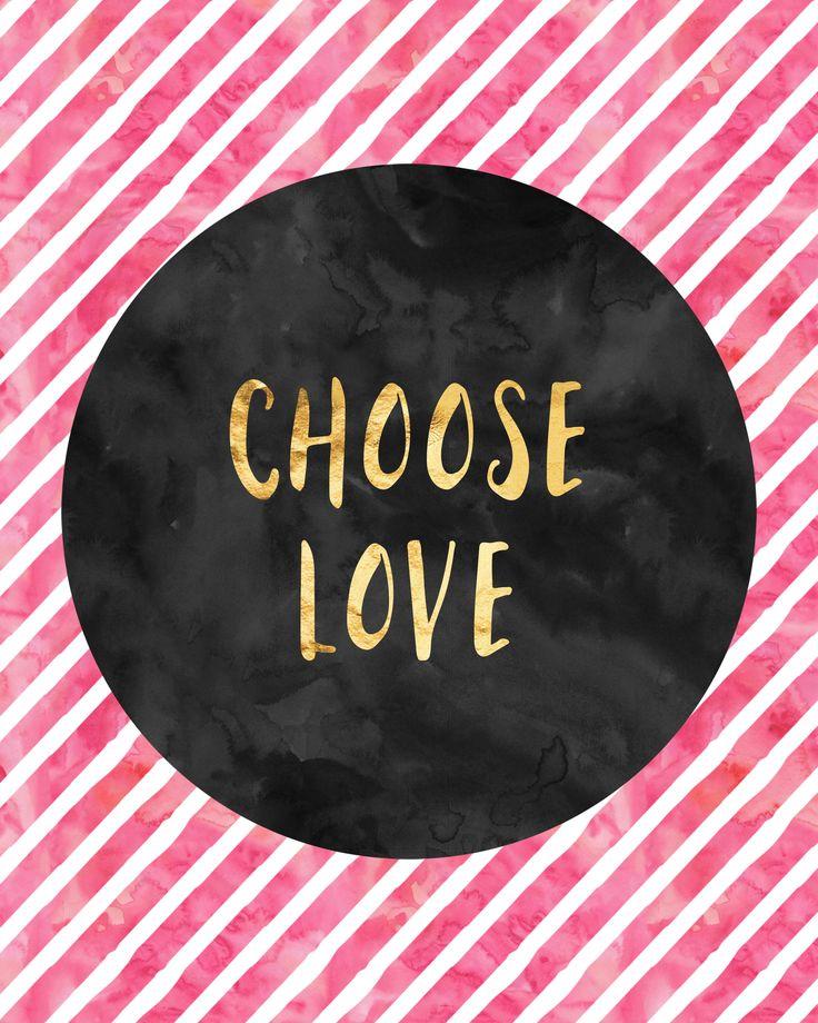 Choose love.