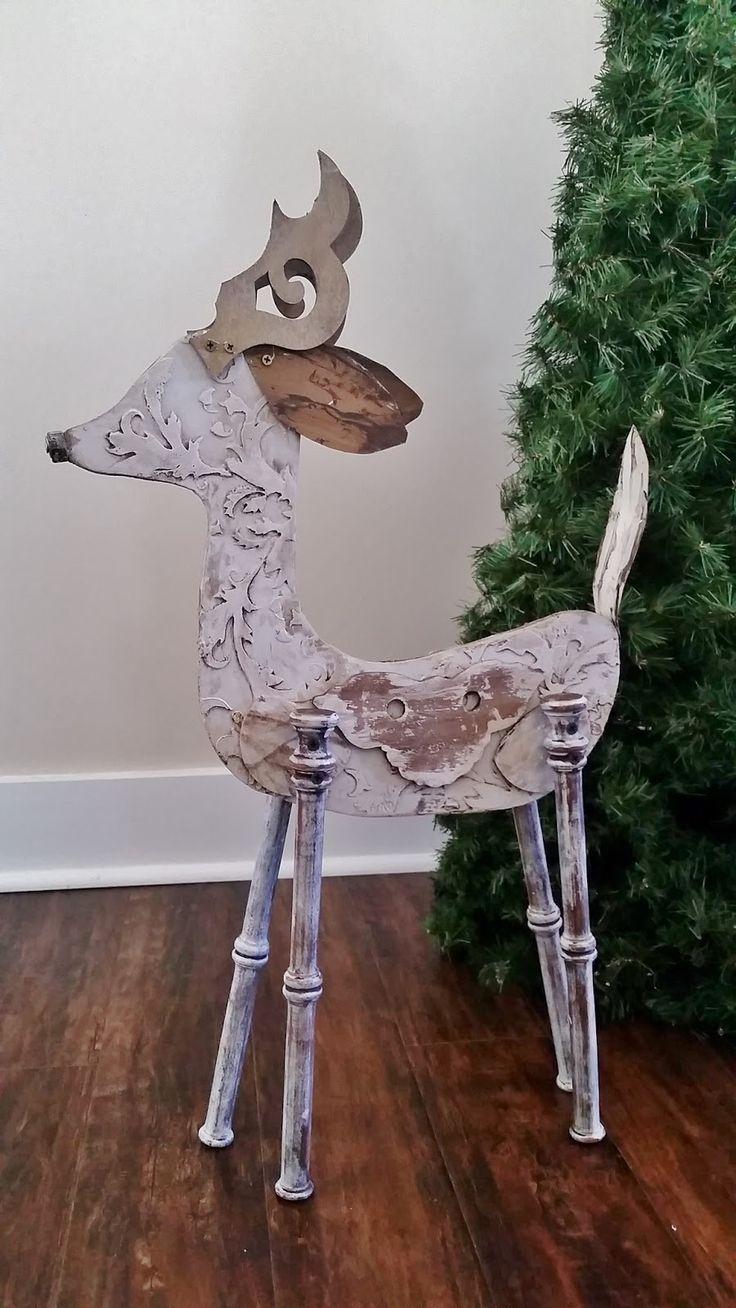 Reindeer Wood Crafts Diy