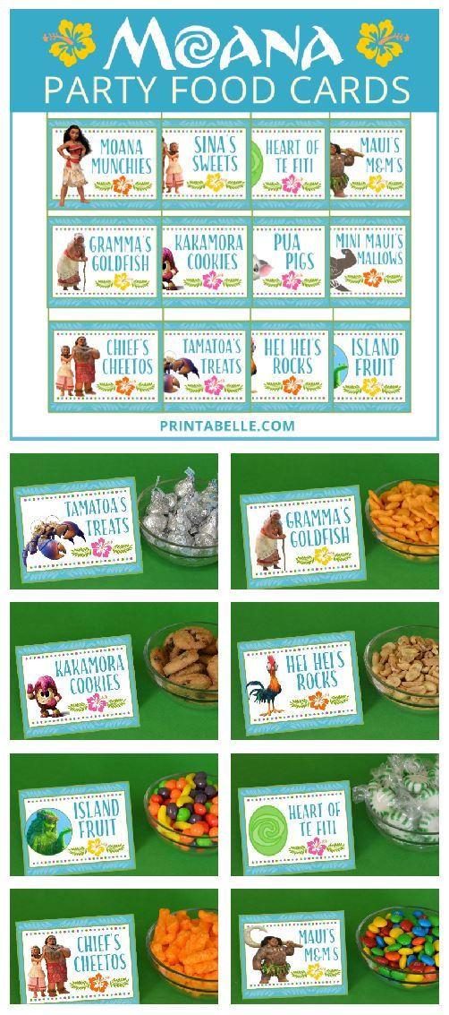#Moana Party Food Cards (and Free Snack Bar Sign) – Birthday Party Free Printables & Games