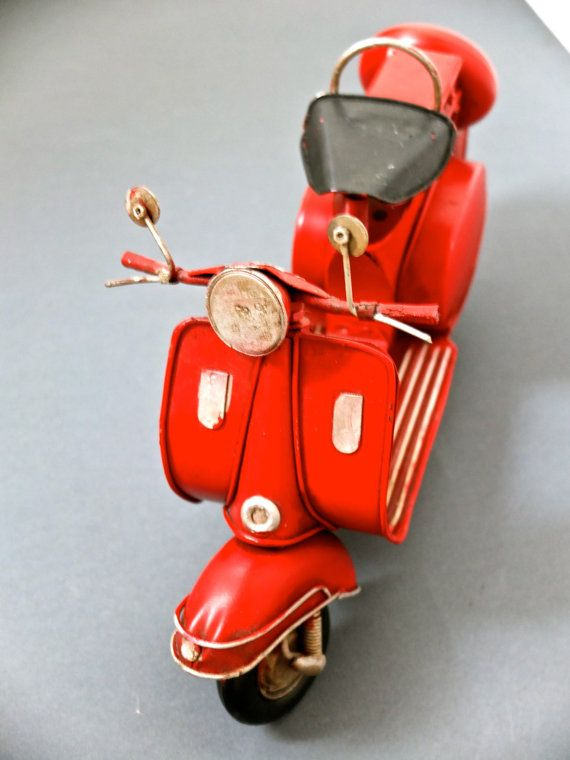 Large Vespa /  tin motor scooter / father's day by ParisRomaNYflea