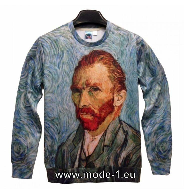 Herren Pullover mit 3D Druck - Van Gogh Bild