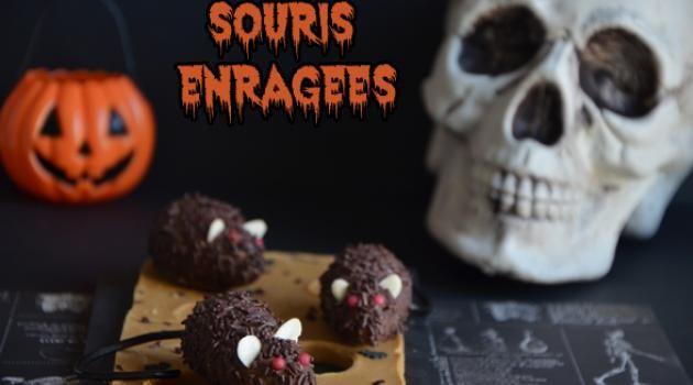 Souris enragées d'Halloween {chocolat & pâte d'amande} tutoriel