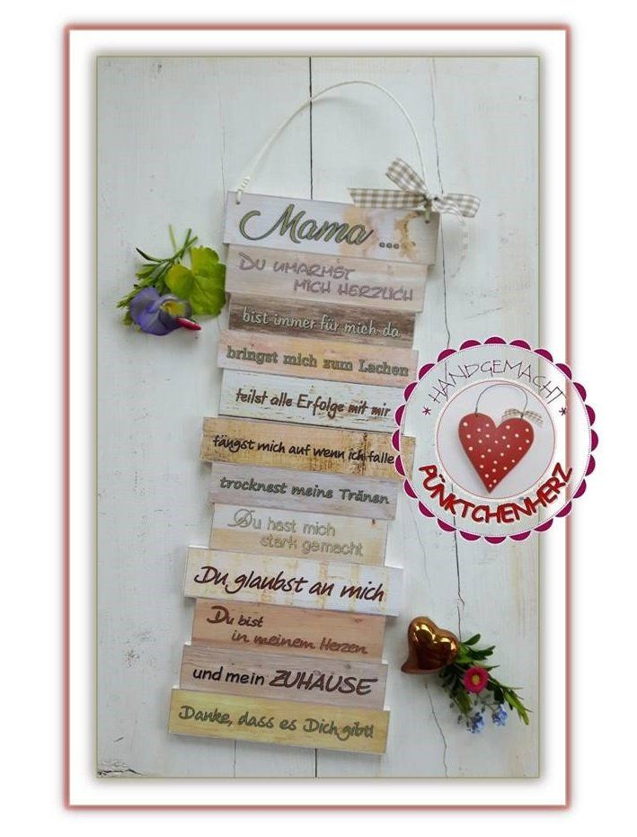 Holzschild Mama Muttertag Geburtstag Zauberhaftes Geschenk