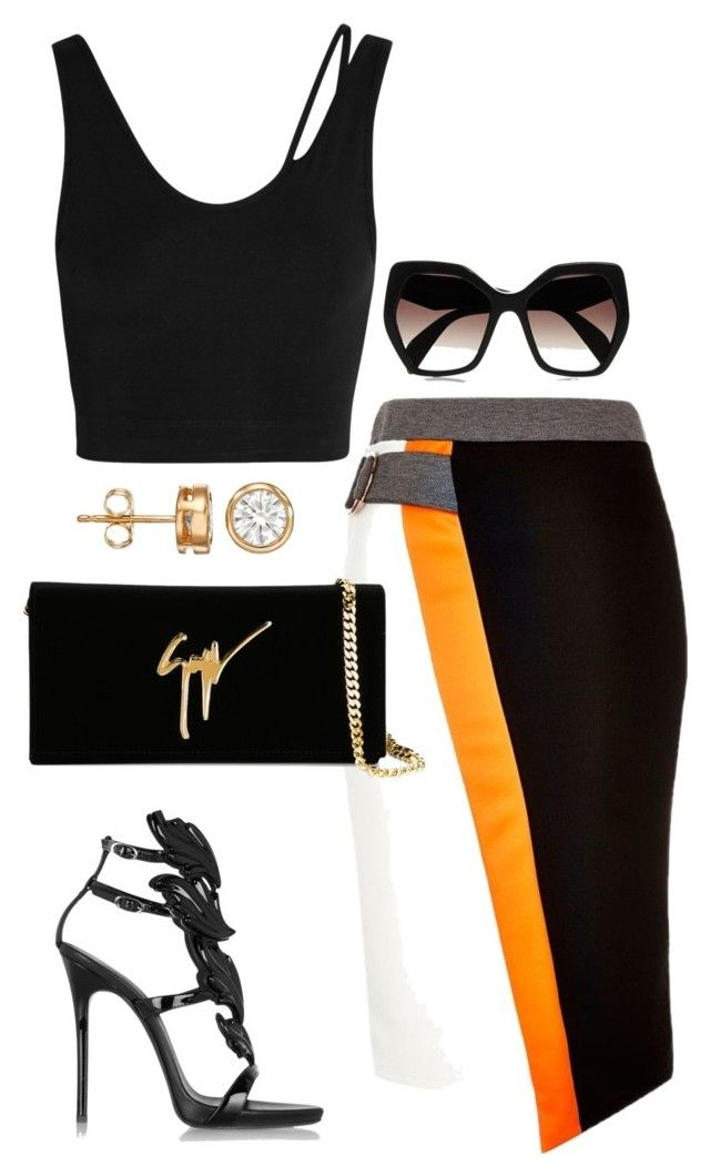 """Easy Kill"" by fashionkill21 ❤ liked on Polyvore featuring River Island, Giuseppe Zanotti, Helmut Lang and Prada"