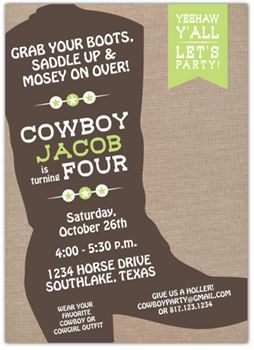 Pepper Lindsey & Co. - Cowboy Boot Invitation