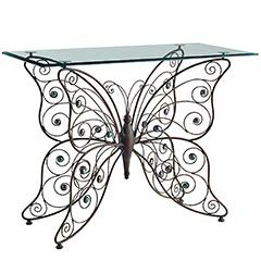 Lovely Glass Top Butterfly Console From Pier 1 Imports.