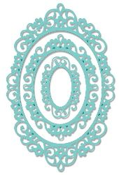 Sweet Dixie - Intricate Oval Frame