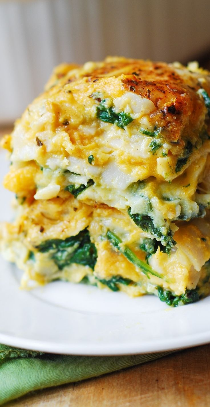 Butternut Squash and Spinach Three Cheese Lasagna