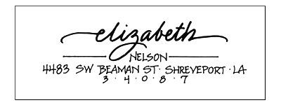 Calligraphy Return address labels