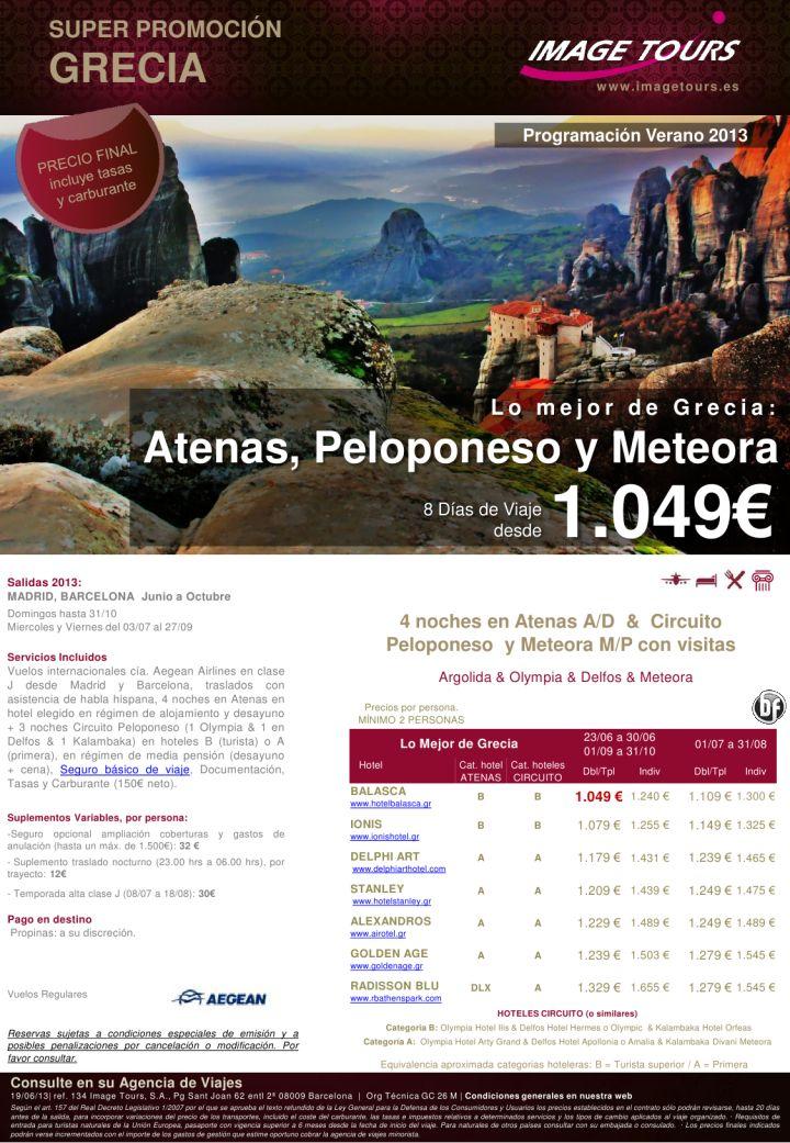 GRECIA - 8 días Atenas y circuito Peloponeso y Meteora hasta Octubre 2013, desde 1049€ precio final - http://zocotours.com/grecia-8-dias-atenas-y-circuito-peloponeso-y-meteora-hasta-octubre-2013-desde-1049e-precio-final/