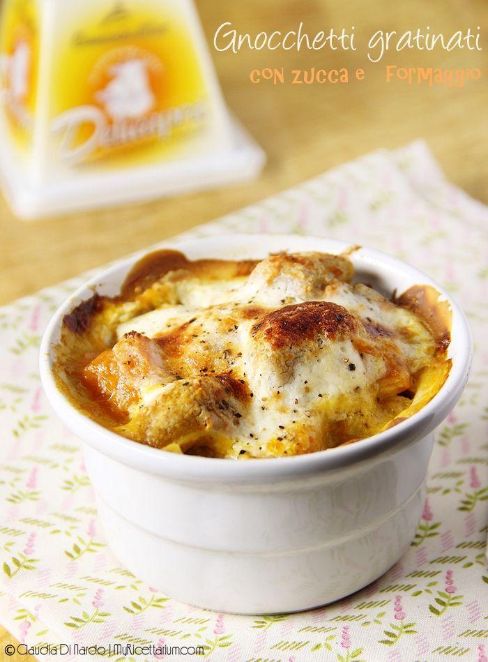 Gnocchetti gratinati con zucca e formaggio