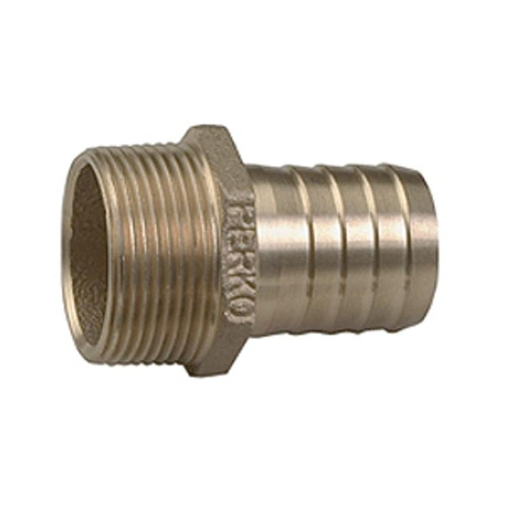 Perko 1 Pipe To Hose Adapter Straight Bronze MADE IN THE USA. Perko 1 Pipe to Hose Adapter Straight BronzeCast bronzeCast hex for easier installationPrecision machined hose barbTechnical Information: Pipe Size Inches: 1 Hose Size Inches: 1 Length Overall Inches: 1-3/4 Model Number: 0076DP6PLB Ship Weight: 1.9/7.9 lbs. MADE IN THE USA  Perko 1 Pipe To Hose Adapter Straight Bronze MADE IN THE USACondition : This item is brand new, unopened and sealed in its original factory box.