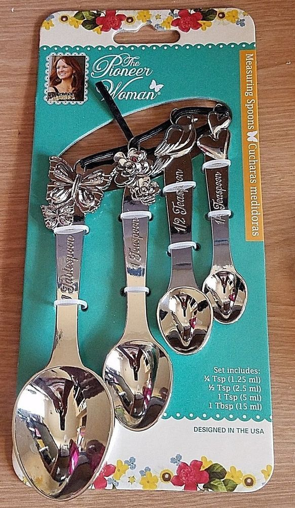 The Pioneer Woman Cowboy Rustic Metal Figural Measuring Spoons #GibsonOverseasInc