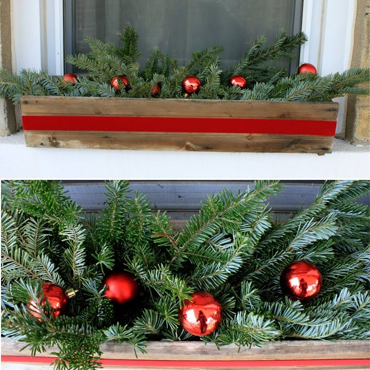 Beautiful Window Box Idea And Then After Christmas You Could Replace