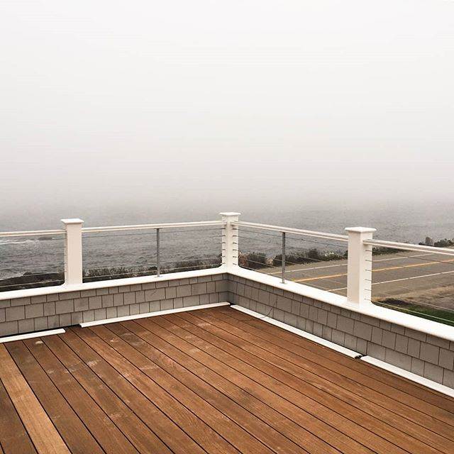 We Had Originally Designed A More Traditional Gaurd Rail For This Third Floor Roof Deck Once It Was Framed And You Could Stand On T Deck Roof Deck Three Floor