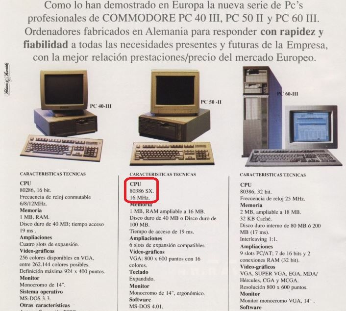 Hasta agosto de 2017, la Estación Espacial Internacional era administrada por procesadores Intel 80386SX de 20 Megahertz, modelo 1988. El mismo procesador que utilizaba el Commodore PC 50 II, cuyo sistema operativo era el MS-DOS 4.01