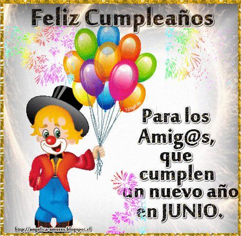 SUEÑOS DE AMOR Y MAGIA: Feliz cumpleaños a los nacidos en Junio
