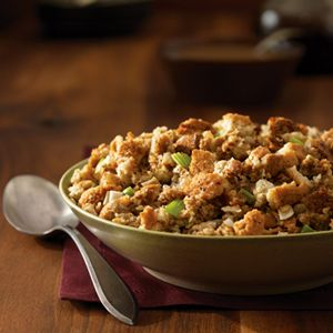 Farmhouse Herbed Stuffing by Epicurious. Used this recipe for Thanksgiving this year - solid.