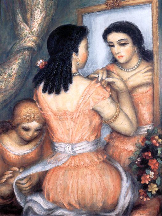 Obraz Antonína Procházky Před zrcadlem