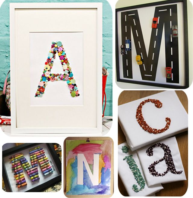 Monograms may be classic kid decor but there's nothing traditional about these five examples!