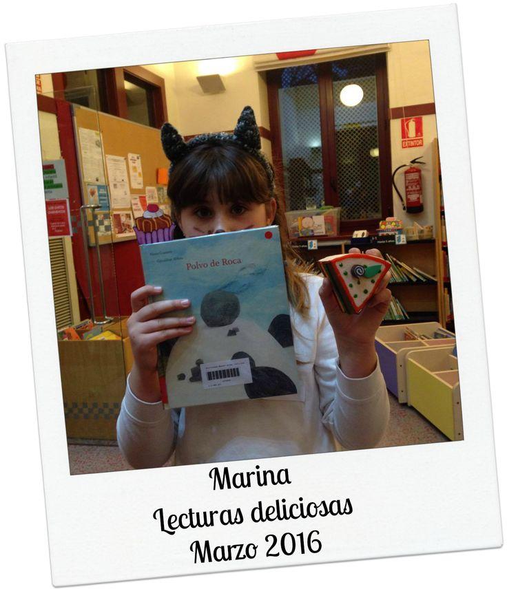 #Lecturas deliciosas del mes de marzo con Marina. #Biblioteca Manuel Alvar (Zaragoza).