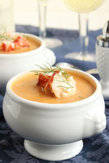 Creamy, rich lobster bisque is easy to make and is a fabulous dinner for guests or a quiet date night at home. | The Suburban Soapbox