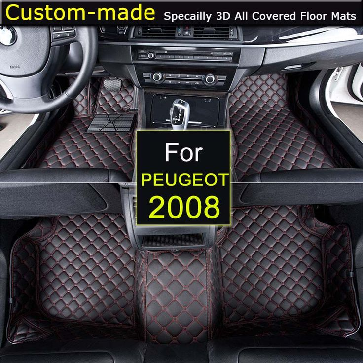 For Peugeot 2008 Car Floor Mats Customized Foot Rugs 3D Auto Carpets Custom-made for Peugeot 2008 3008 4008 #Affiliate