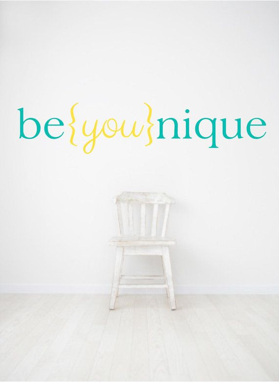 Be you nique Beyounique girls room decal nursery decal by luxeloft, $8.50