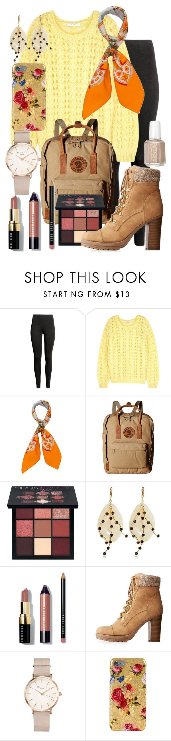 """""""Russell {Up} Inspired Outfit"""" by the-disney-outfits ❤ liked on Polyvore featuring Gestuz, Hermès, Fjällräven, Huda Beauty, Marni, Bobbi Brown Cosmetics, Charlotte Russe, ROSEFIELD, Dolce&Gabbana and Essie"""