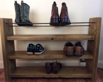 Free shipping Reclaimed wood Shoe Rack with by SpudsCreativeAsylum