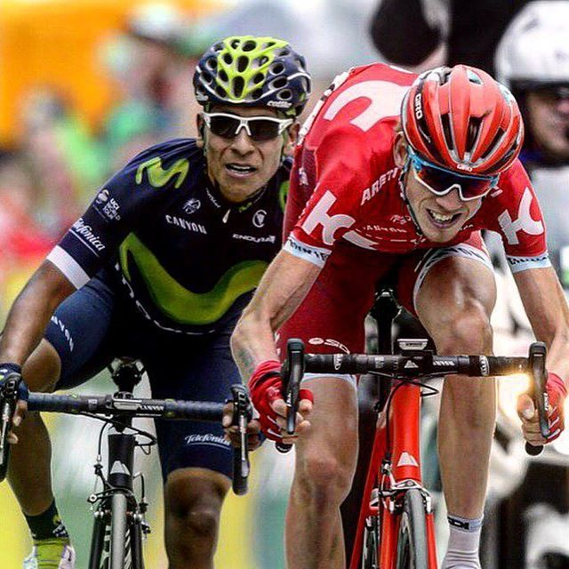 A very heated sprint stage 2 #TDR 2016 Nairo #Quintana Ilnur Zakarin