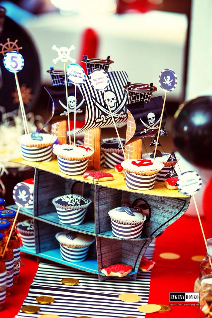 Детский праздник для настоящих пиратов. Happy birthday. День рождения.