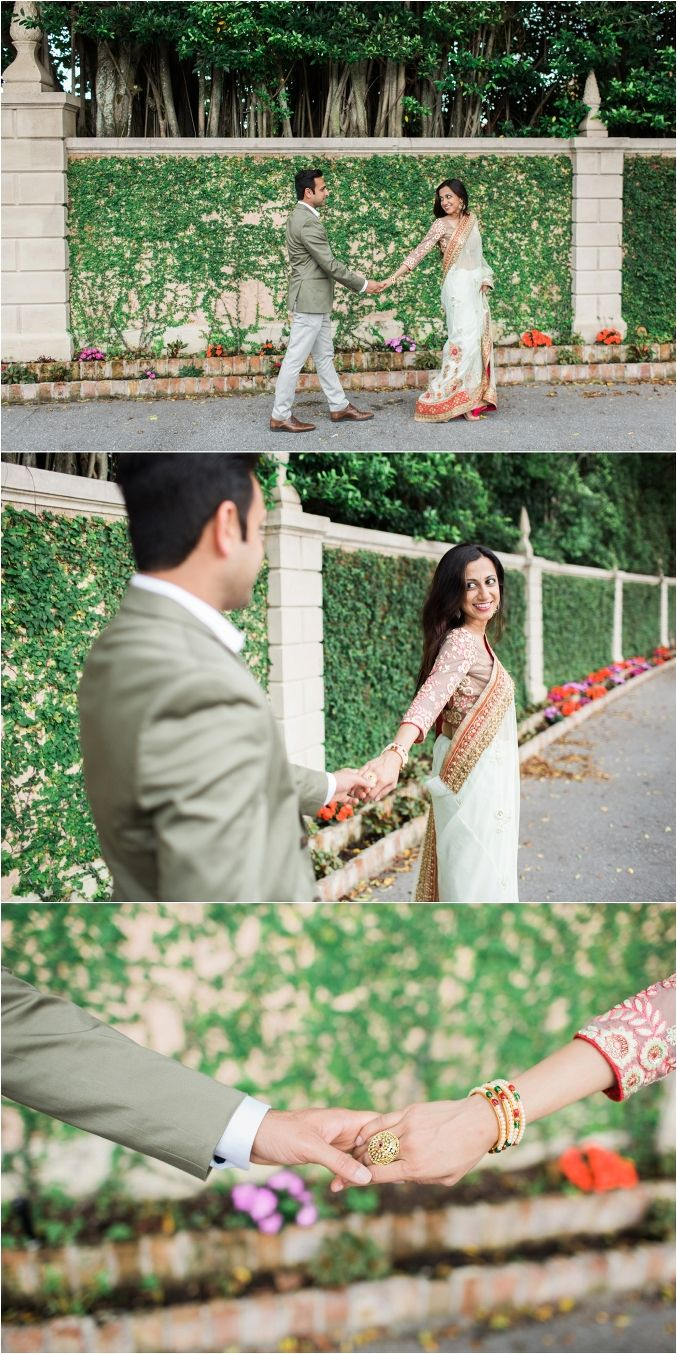 Gorgeous Palm Beach, Florida Indian Engagement photos by The Big Day