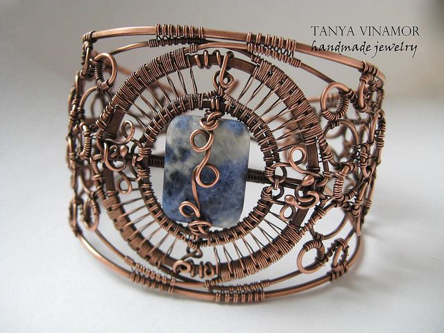 Copper bracelet with lasurite | Flickr - Photo Sharing!
