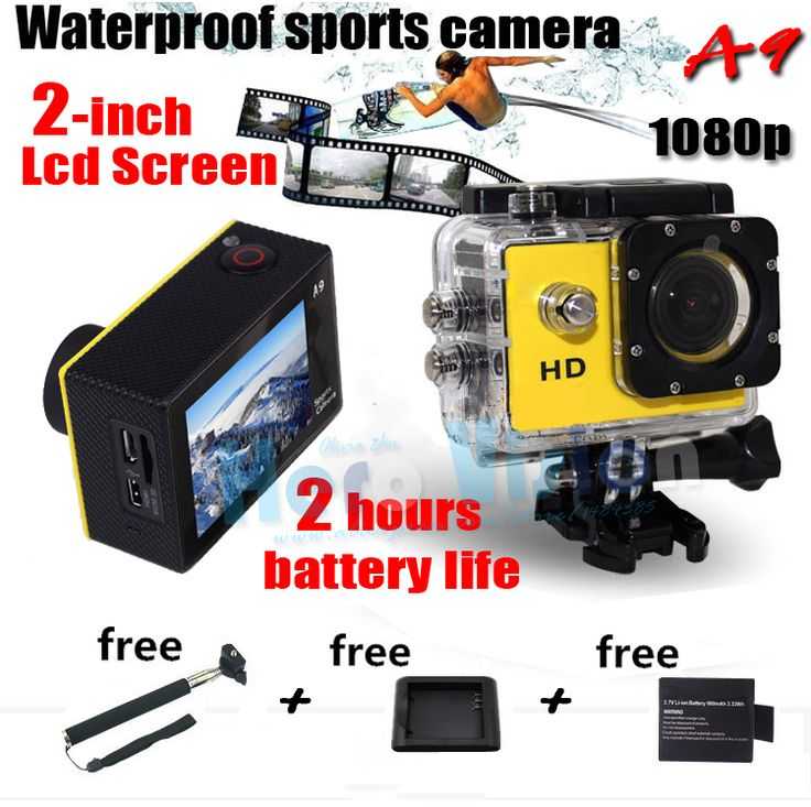 Find More Consumer Electronics Information about 2 Inches Screen Gopro Style Eken A9 Action Camera 1080P HD Waterproof Car Camera DVR digital Camcorder Gopro Action Camera Style,High Quality camera sony super had ccd,China camera plate Suppliers, Cheap camera cable from Hero Vision on Aliexpress.com