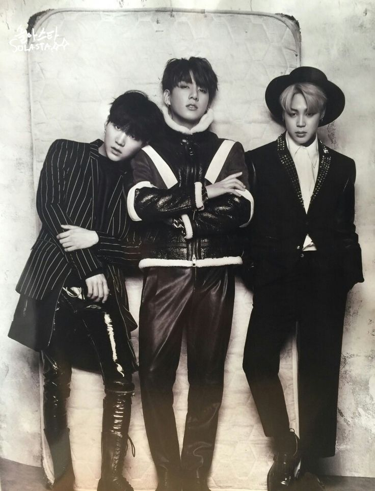 Suga, Jungkook and Jimin ❤ BTS for Singles Magazine January 2017 Issue #BTS #방탄소년단