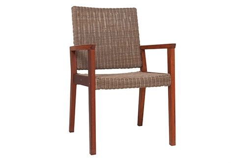 Bronx Wicker Chair Kwila/Irish Coffee