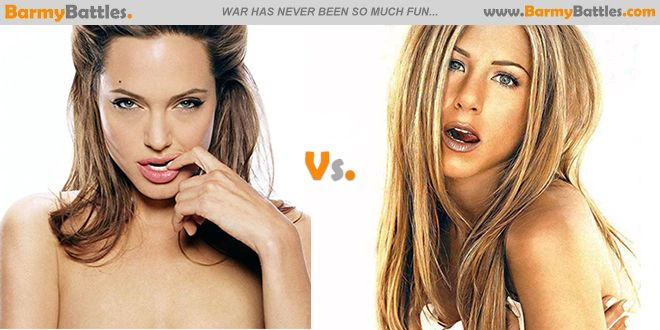 Angelina Jolie vs Jennifer Aniston. Who exactly is more irresistible amd who would win with the two Hollywood Hottie battle? #angelinajolie #jenniferaniston #hollywood #hot #sexy #babe CLICK HERE TO VOTE: http://www.barmybattles.com/2014/03/06/angelina-jolie-vs-jennifer-aniston/