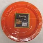 "9"" Orange Plastic Party Plates 50ct."