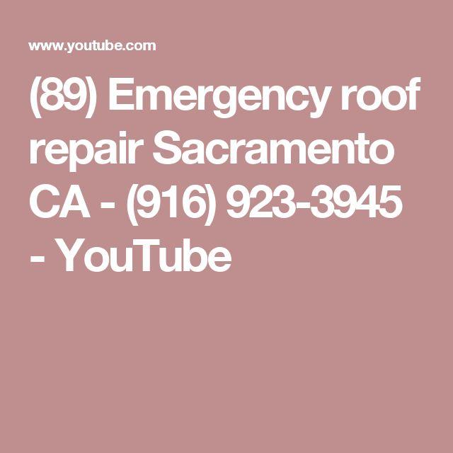 Emergency Roof Repair Sacramento CA