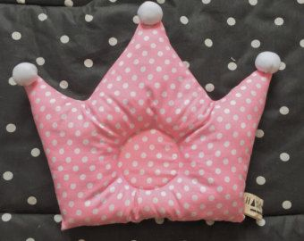 Green Polka Crown Baby Pillow от CoutureCrown на Etsy