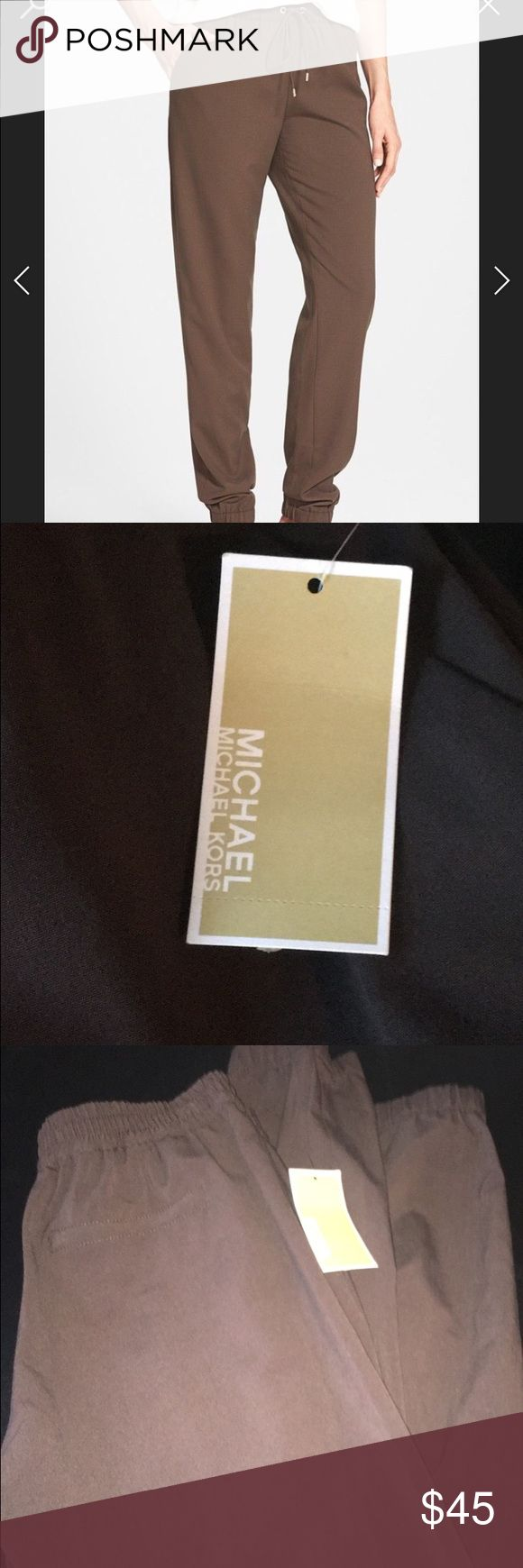 NEW WITH TAGS. Micheal kors brown joggers NEW WITH TAGS brown Micheal kors joggers. Can be dressed up or down KORS Michael Kors Pants Track Pants & Joggers