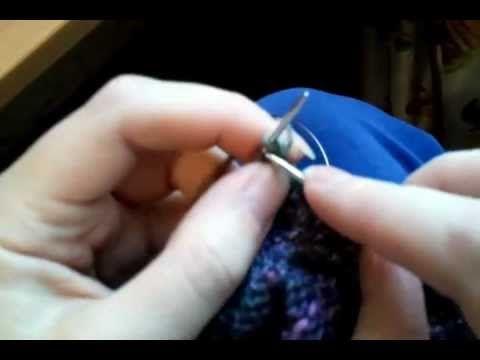 петли на планке спицами - YouTube