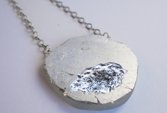 plexi and silver necklace by HJ Designs