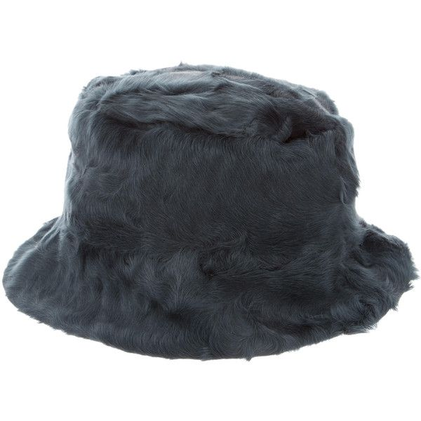 Pre-owned Helen Yarmak Fur Hat (€450) ❤ liked on Polyvore featuring accessories, hats, blue, fur hat, tea hats, fishing hat, fisherman hat and blue bucket hat