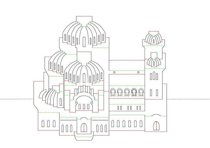 Схема открытки замок