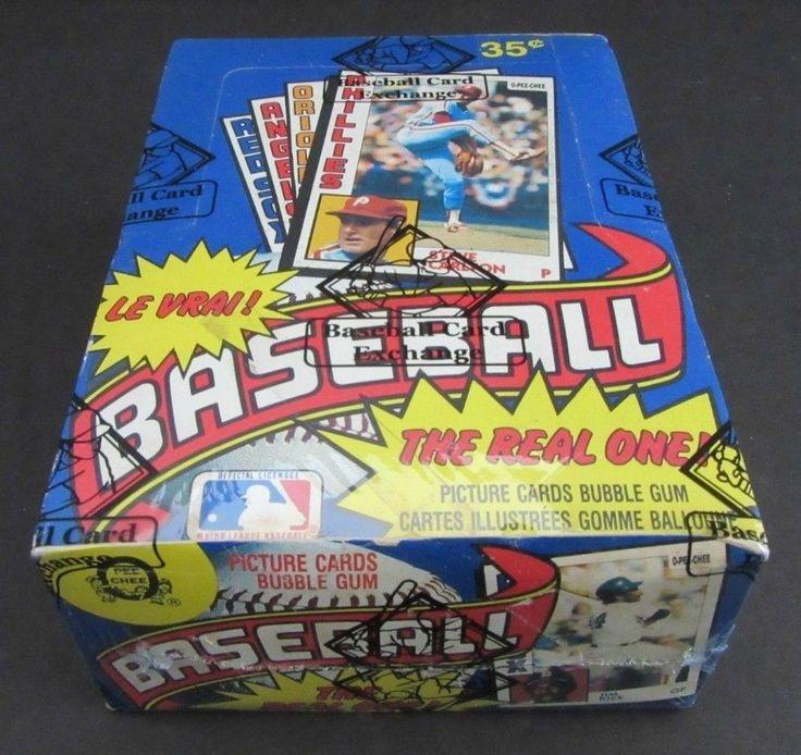 1984 opc opeechee baseball unopened wax box bbce