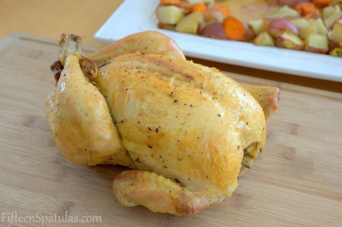 Classic Roast Chicken on a Bed of Vegetables | Recipe
